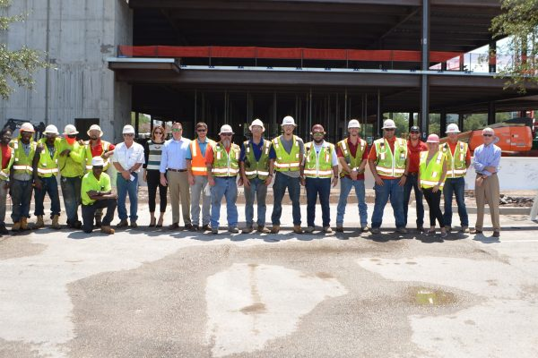 Robins & Morton Celebrates Destination Medical Building Topping Out