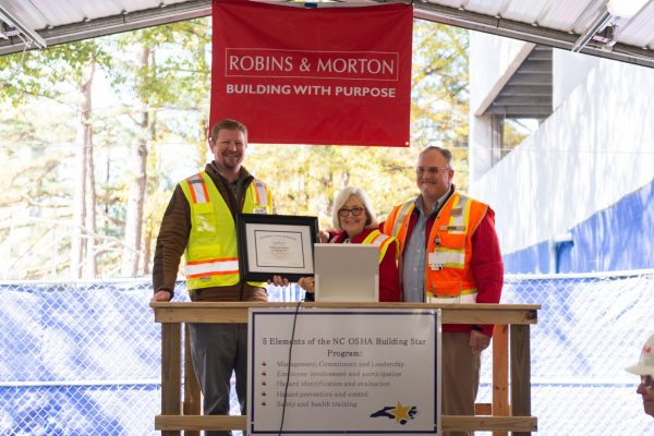 Robins & Morton receives North Carolina Department of Labor's Building Star Award