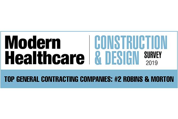 Modern Healthcare ranks Robins & Morton No. 2 contractor