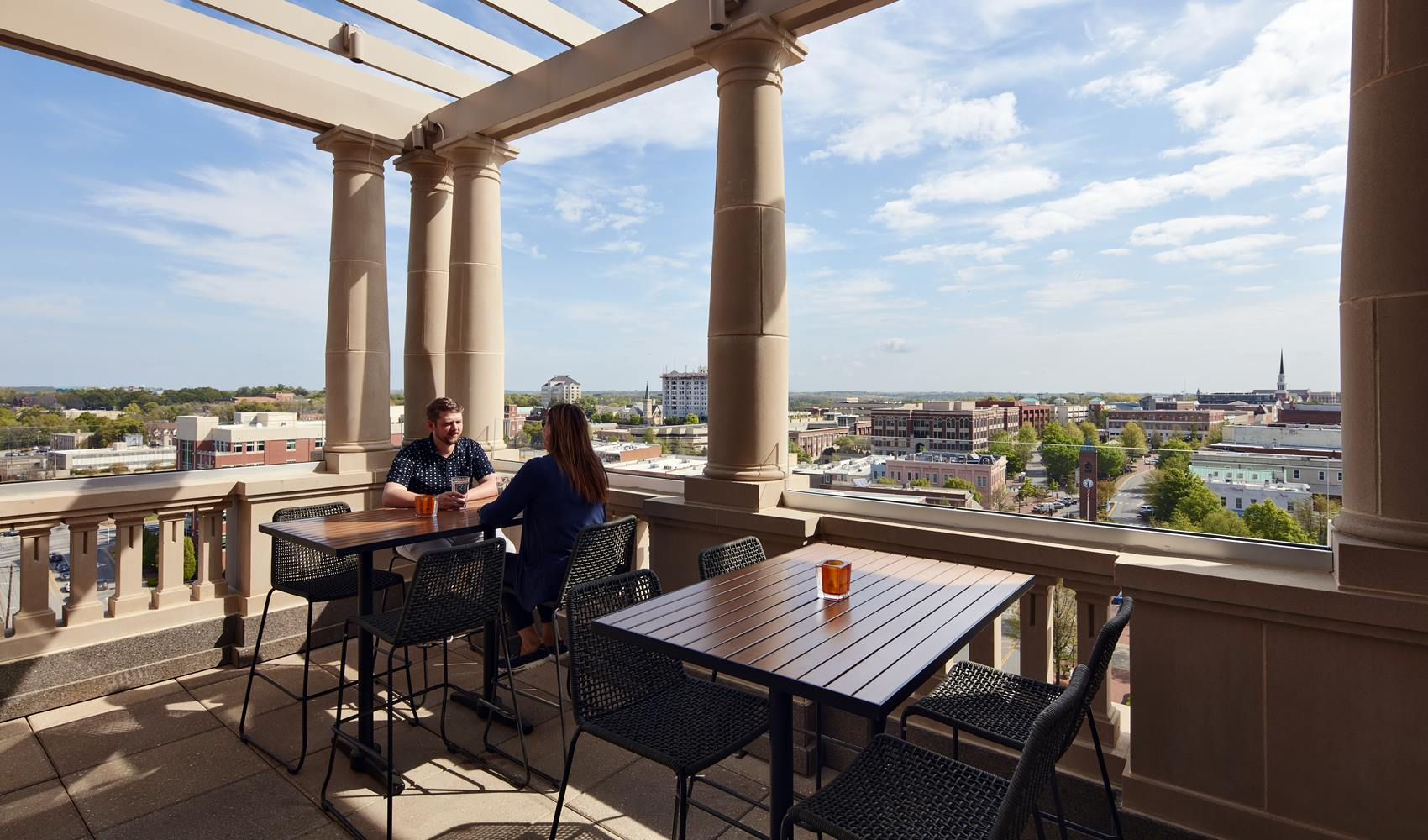 A C Hotel Spartanburg Rooftop Dining
