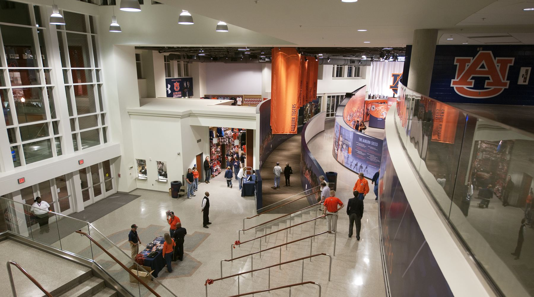 Interior view of Auburn Arena