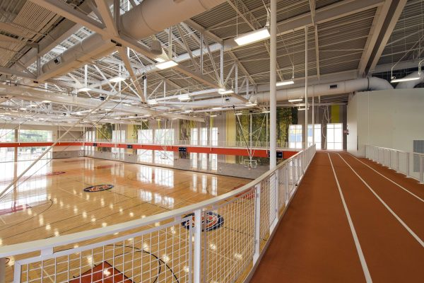 Indoor track at the Auburn University Recreation and Wellness Center
