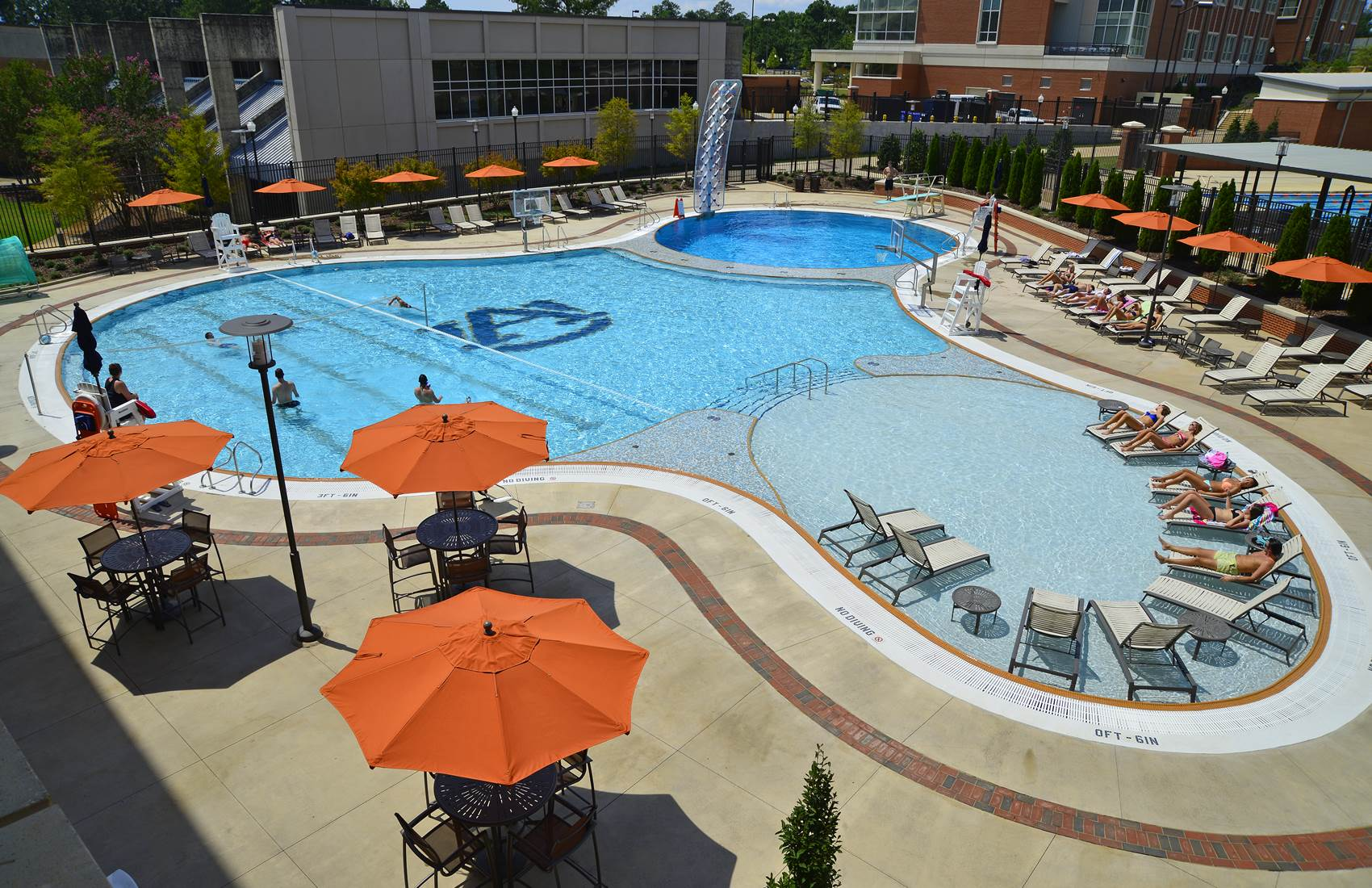 Pool at the Auburn University Recreation and Wellness Center