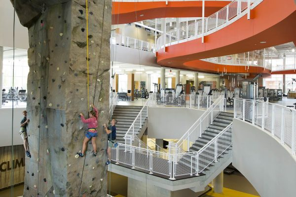 Climbing Wall at the Auburn University Recreation and Wellness Center