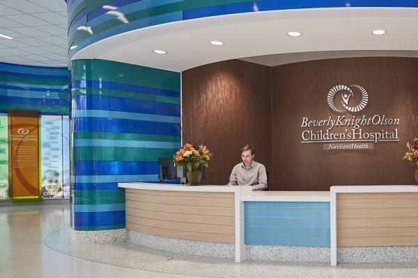 registration desk at hospital