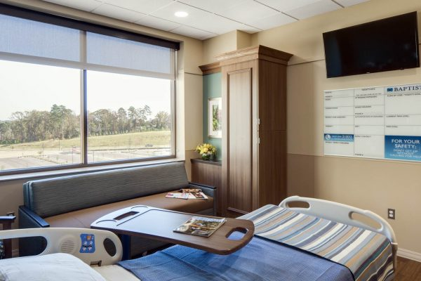 Patient room at Baptist Memorial Hospital in Oxford