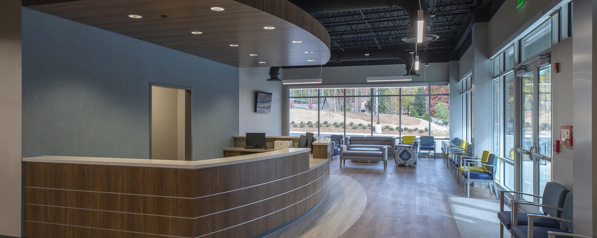 dentist office reception area