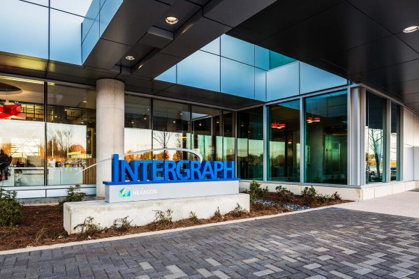 Entrance of Intergraph Headquarters