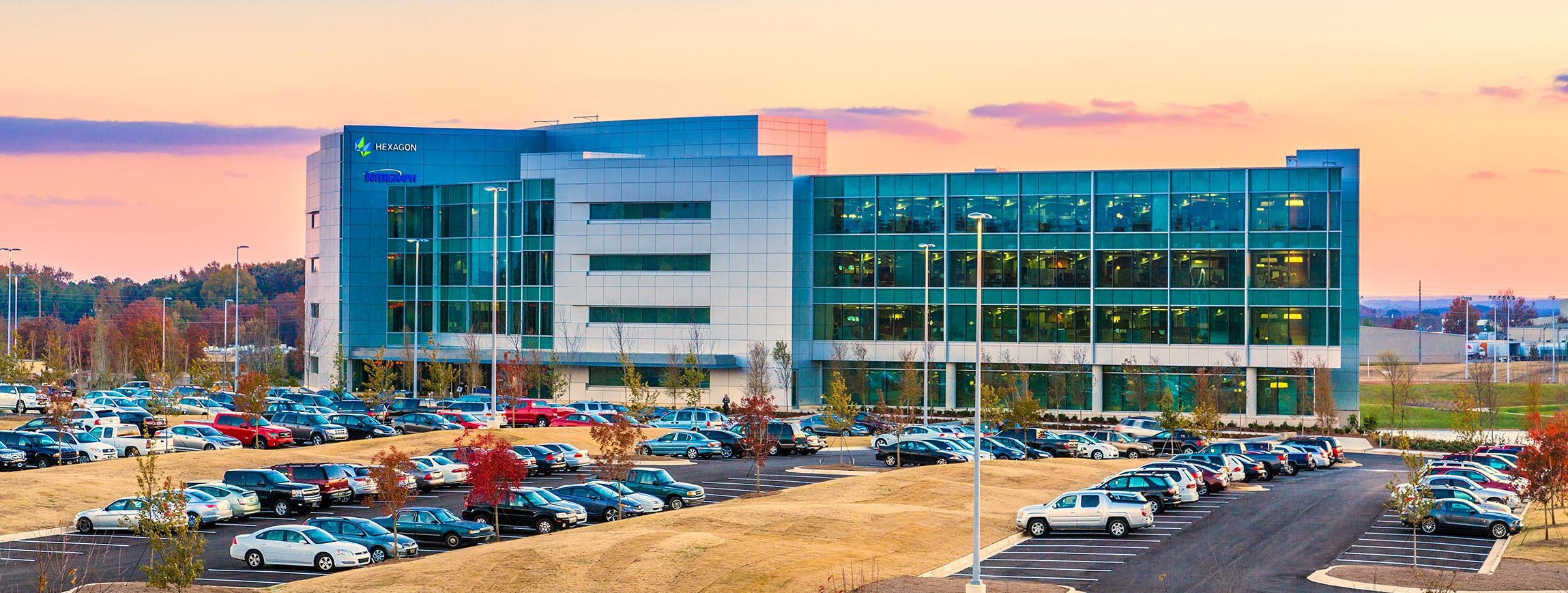 Intergraph headquarters at sunset