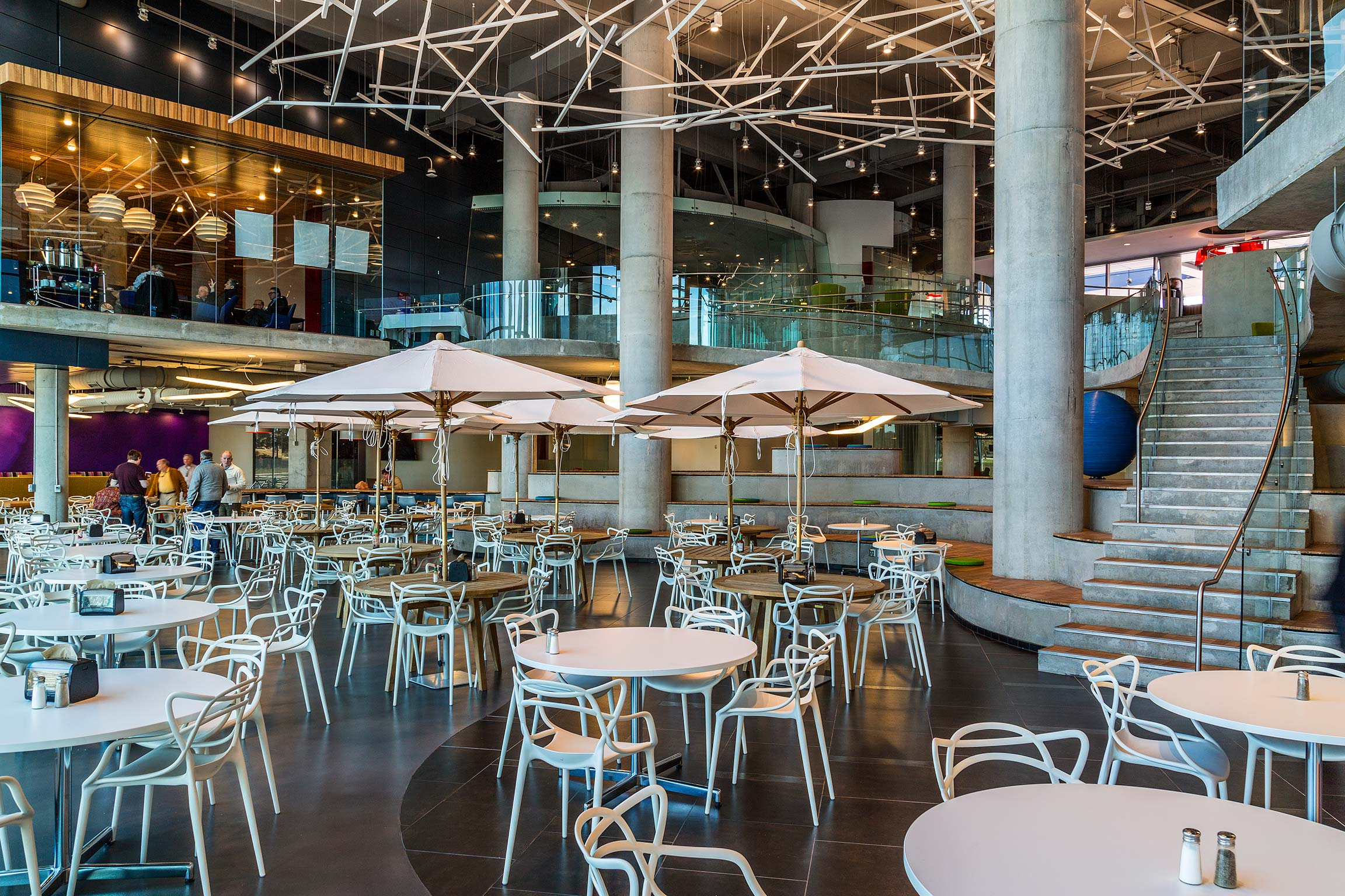 Dining area inside Intergraph Headquarters