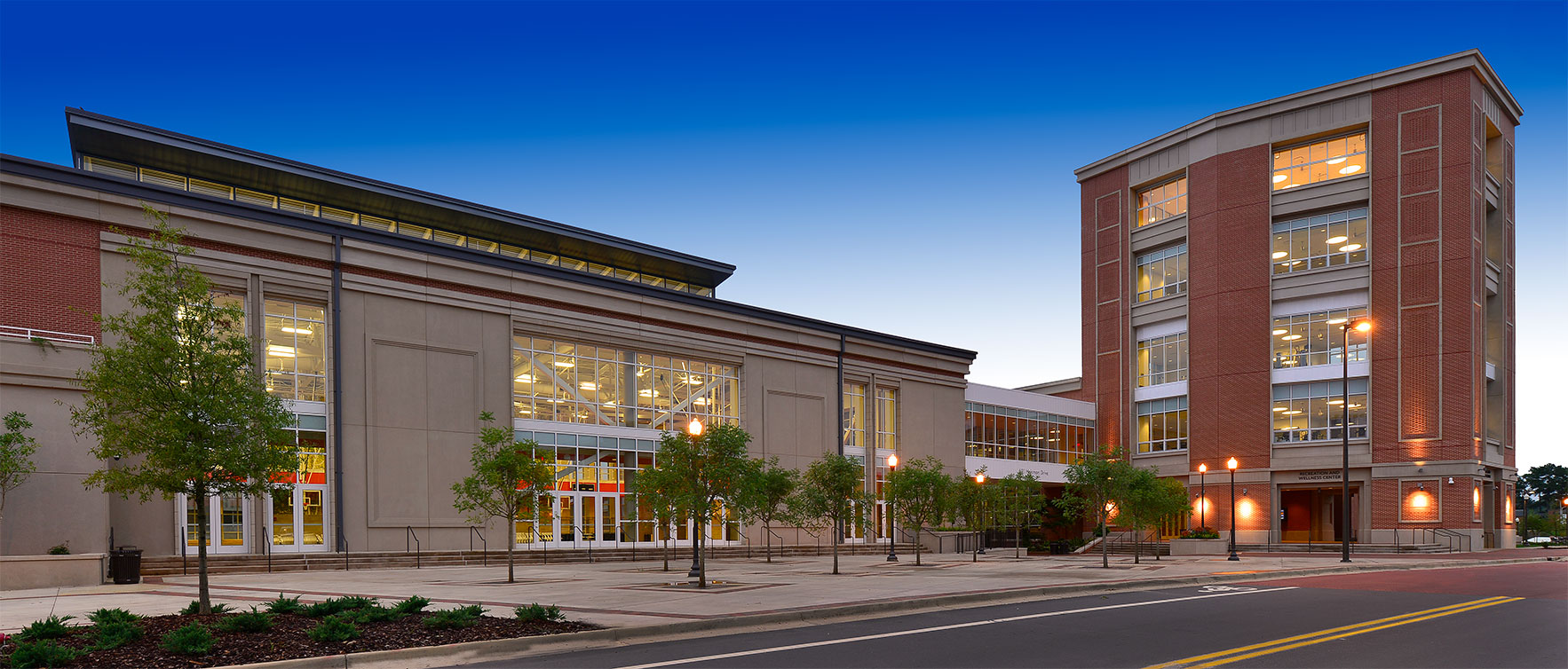 Exterior view of the Auburn University Recreation and Wellness Center