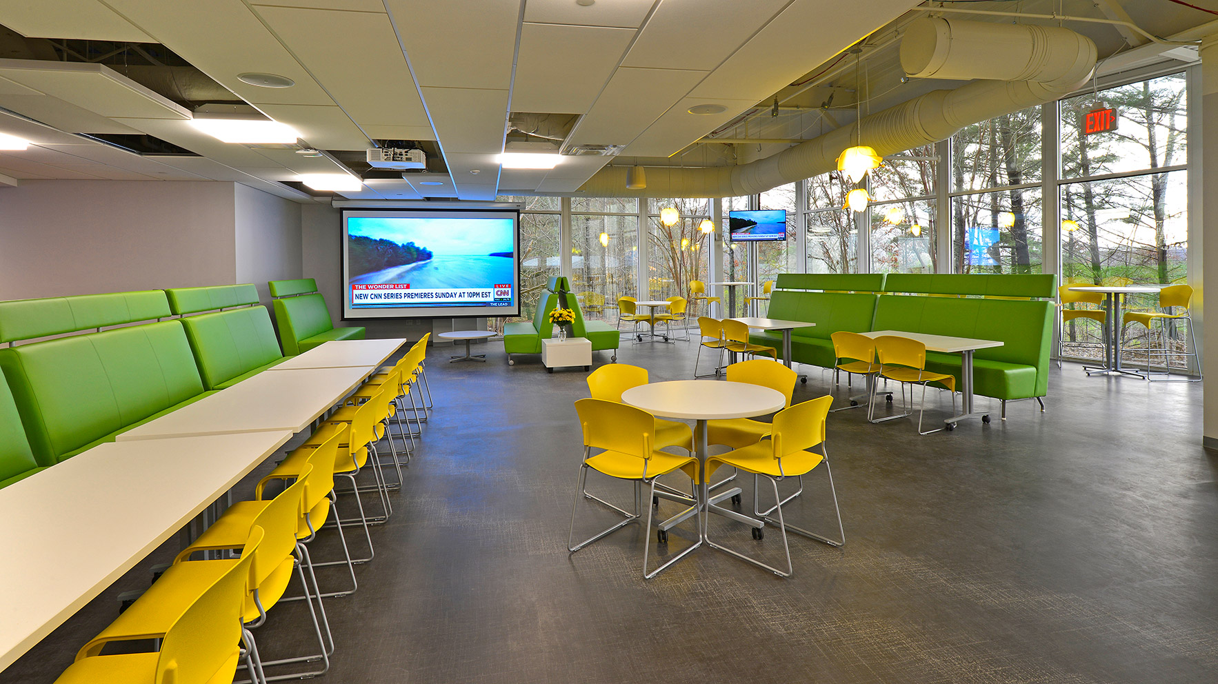 Colorful dining area at the T Mobile Corporate Office