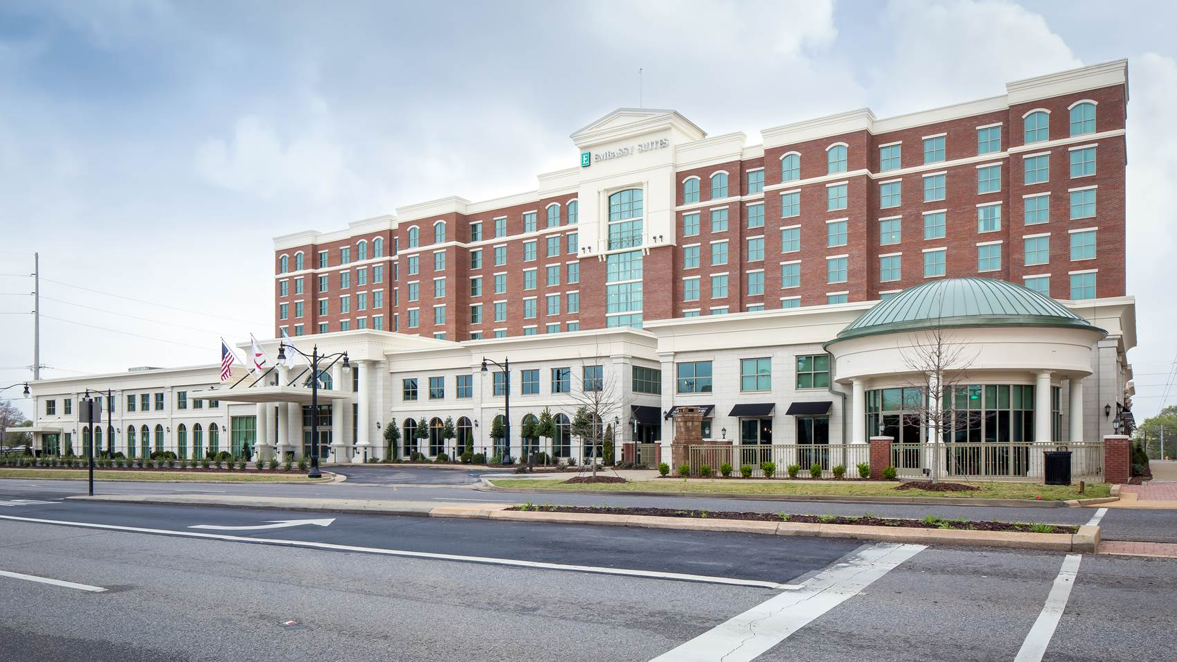 Exterior view of Embassy Suites