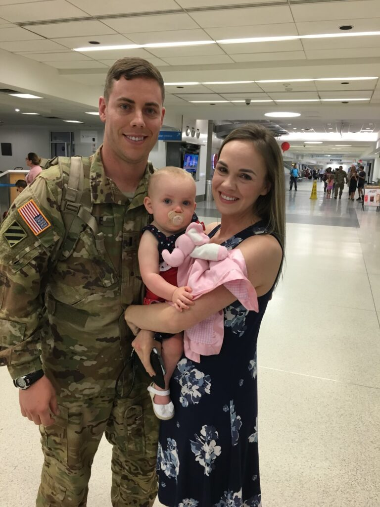 a soldier and his family