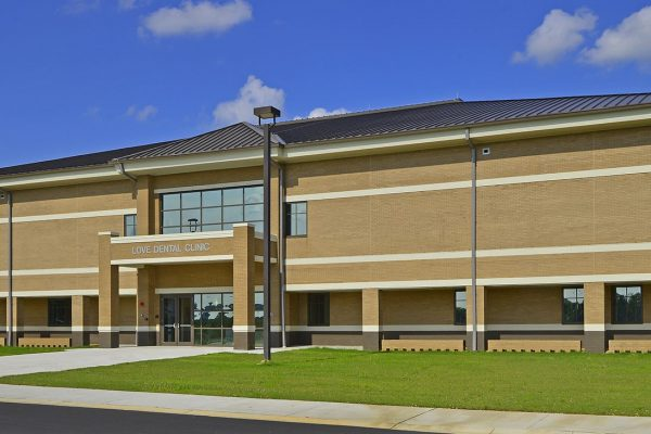 Exterior view of Love Dental Clinic at Fort Benning