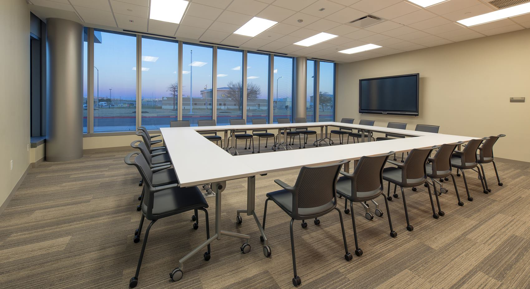 Classroom inside the National Intrepid Center of Excellence facility in Fort Hood