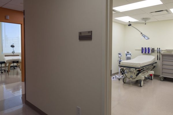 Exam rooms inside the National Intrepid Center of Excellence facility in Fort Hood
