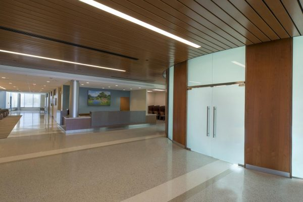 Main lobby inside the National Intrepid Center of Excellence facility in Fort Hood