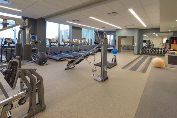 Physical therapy and occupational therapy area inside the National Intrepid Center of Excellence facility in Fort Hood
