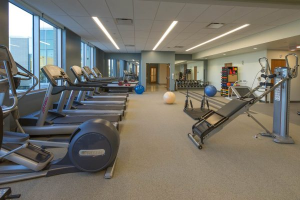 Physical therapy room inside the National Intrepid Center of Excellence facility in Fort Hood