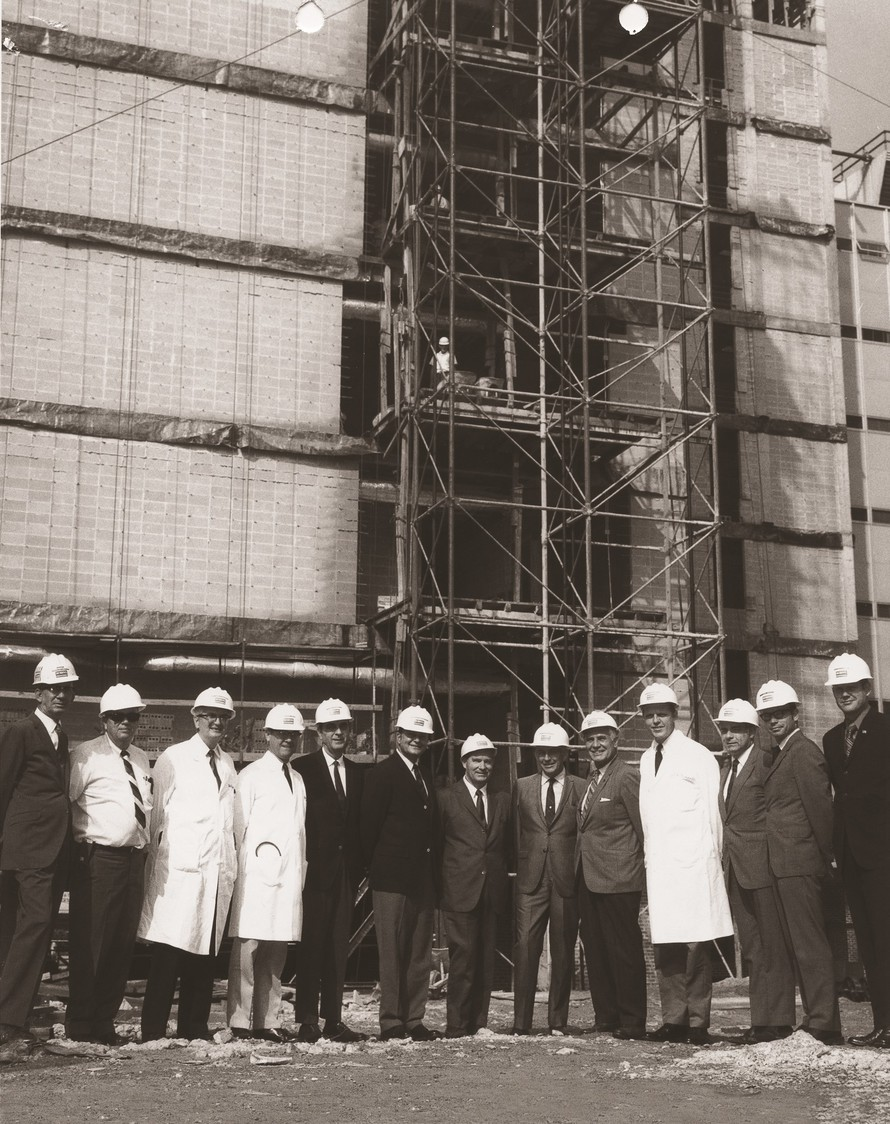 men in front of a construction project