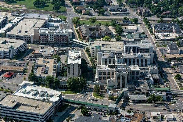 Aerial view of Huntsville Hospital