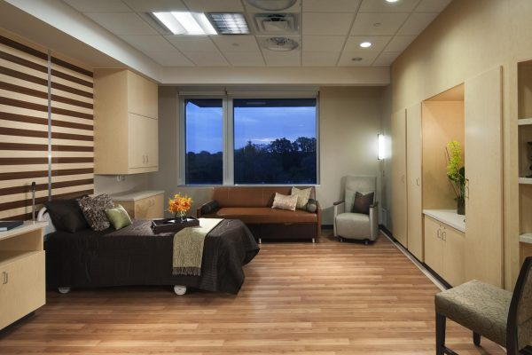 Patient room at Integris Health Edmond