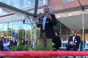 Jeff Jones speaking at ribbon cutting