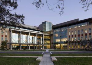 Miami Cancer Institute at dusk