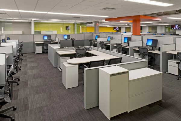 Open office area inside T Mobile Corporate Location