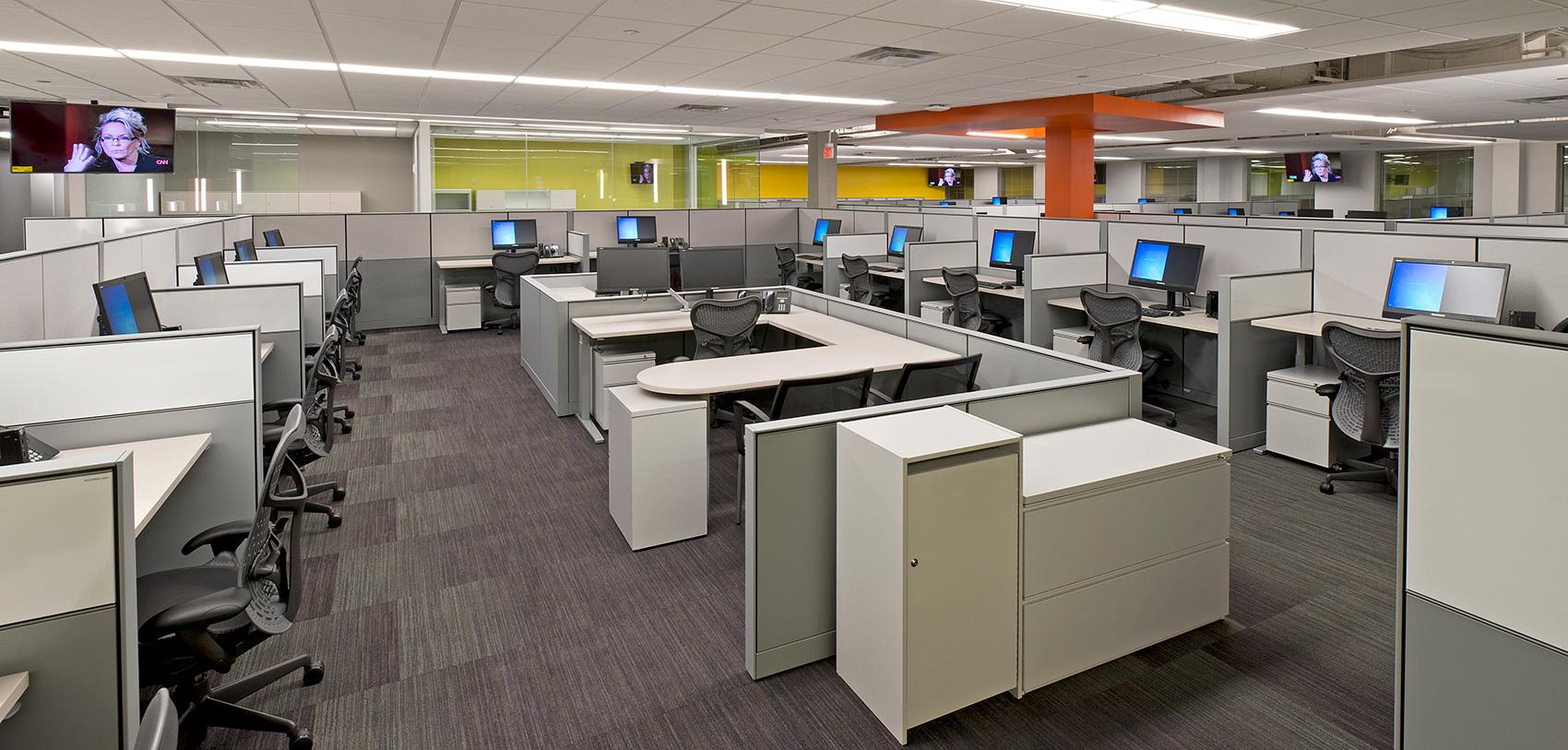 Open office area inside T Mobile Corporate Location