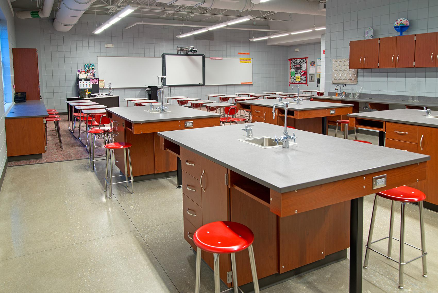 Science room at Opelika High School