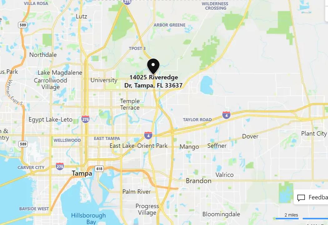 map to Robins & Morton Tampa