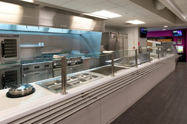 Cafeteria serving line inside the T Mobile Corporate Office