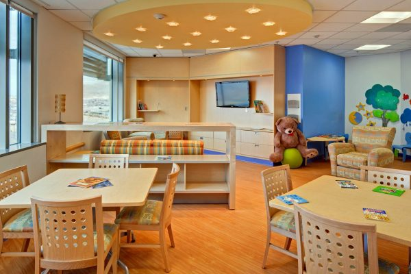 Children's waiting area at University Medical Center of El Paso