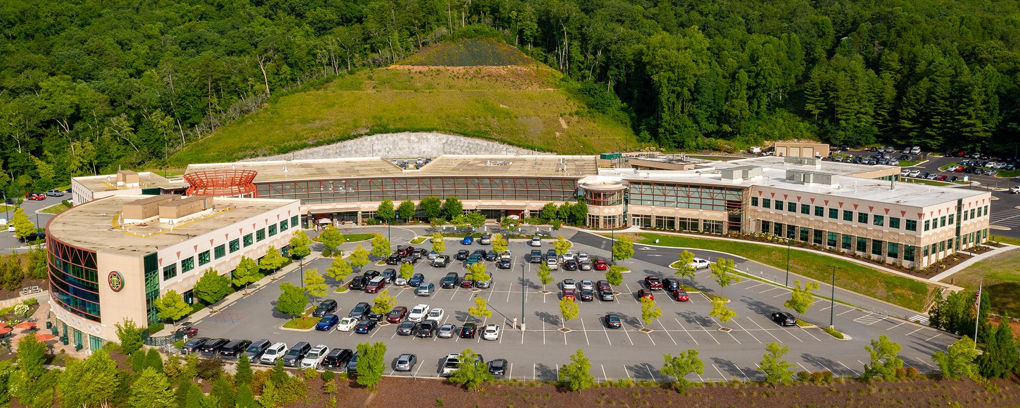 hospital campus aerial