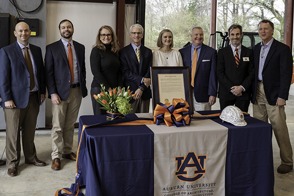 Robins & Morton and Auburn University College of Architecture, Design and Construction Hold Dedication Ceremony for the Robins & Morton Construction Field Laboratory