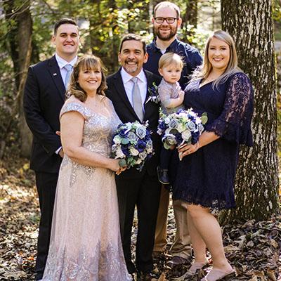 family wedding portrait