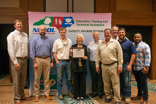 Robins & Morton receives Million Hour Safety Award for North Carolina work