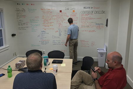 Team participating in Lean Coffee