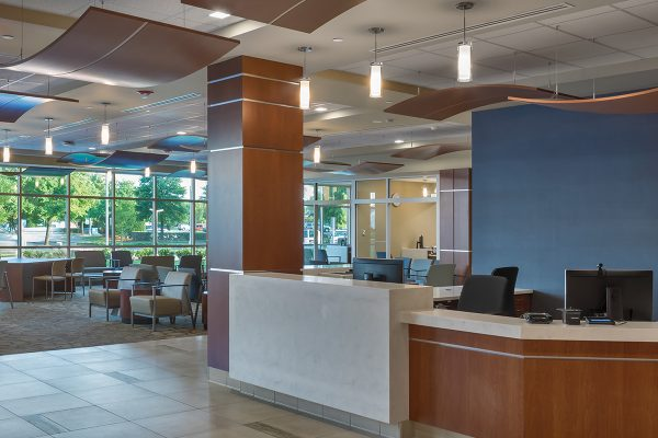 Hospital lobby and registration