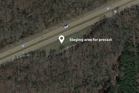 Location of staging area on I-40
